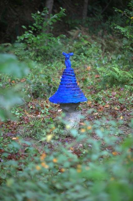 Blue Labyrinth, a nascent  living sculpture