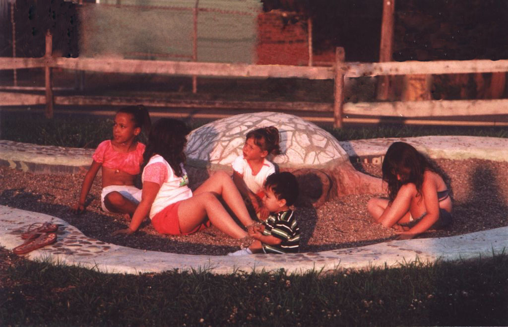 Turtle/Pond Play Area, on opening day, International Block Party
