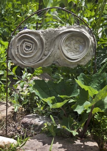 Ice cold infinity, in a native plant rain garden.