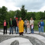 Rinpoche blesses labyrinth